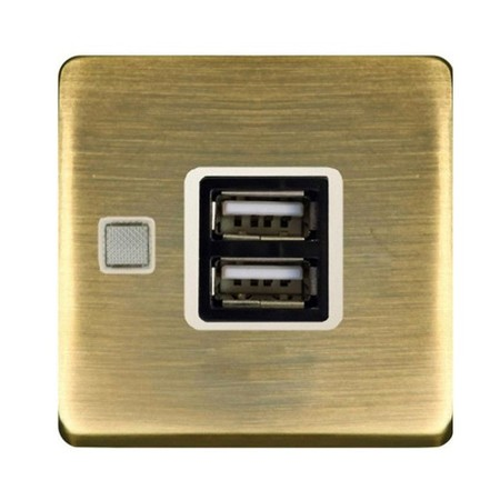 Розетка 1xUSB FEDE коллекции Fede, matt patina/бежевый, FD-212USBPM-A